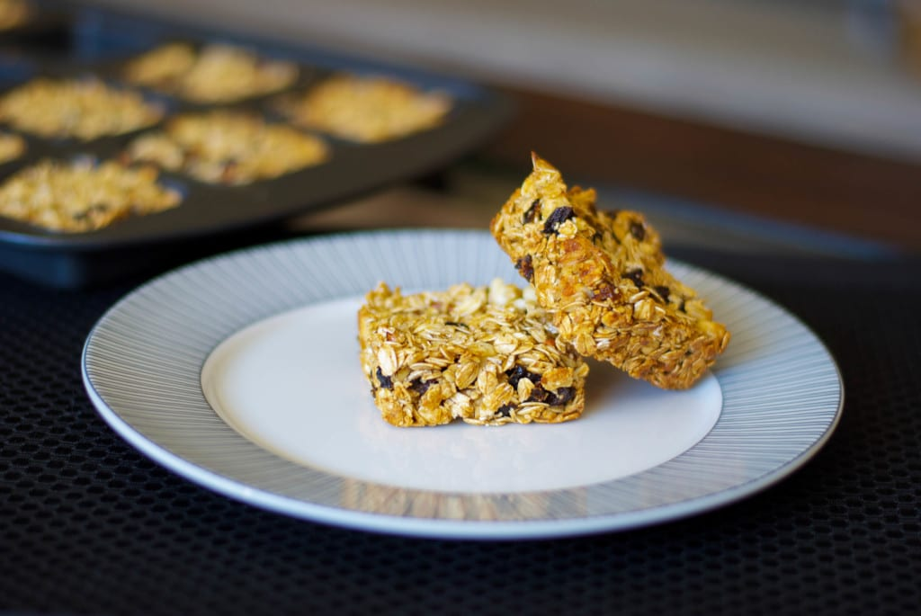 Plum Pecan and White Chocolate Granola Bars