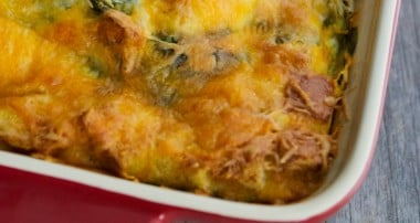 Spinach Artichoke Breakfast Strata