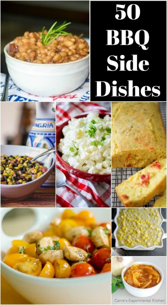 Are you having a bbq and need some side dish ideas? Look no further! Here are 50 BBQ Side Dishes that will help to round out your event.