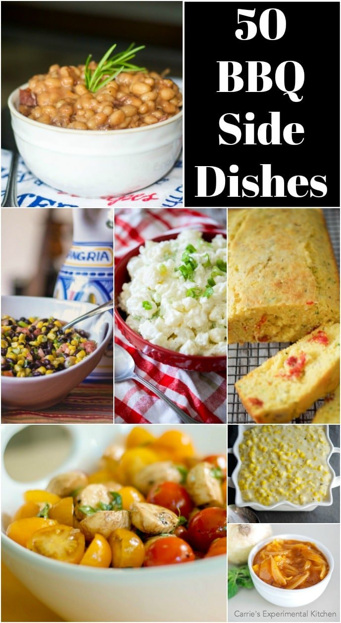 Are you having a bbq and need some side dish ideas? Look no further. Here are 50 BBQ Side Dishes that will help to round out your event. #sidedish #bbq #barbecue #picnic