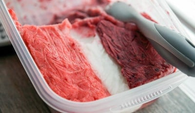 Red, White & Blue Sorbet-frozen