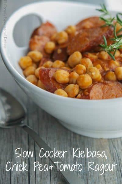 Slow Cooker Kielbasa, Chick Pea & Sausage Stew