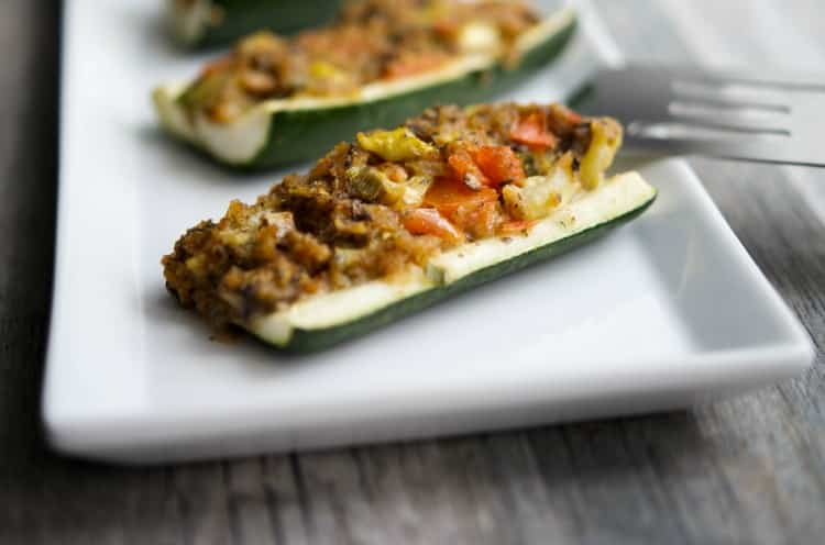 Stuffed Zucchini Boats-horizontal