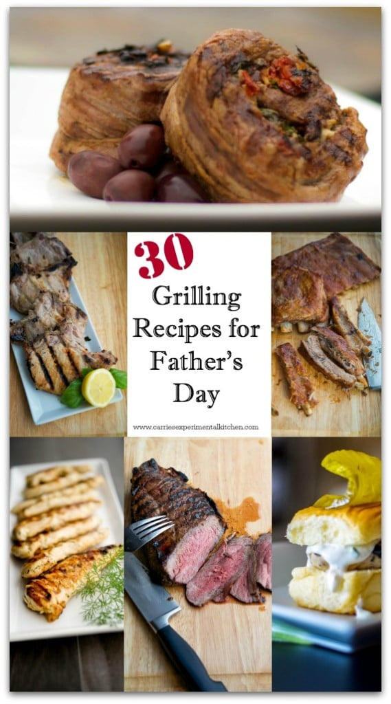 Are you looking for some new recipes to try this Father's Day? Here are 30 Grilling Recipes to give you some inspiration.