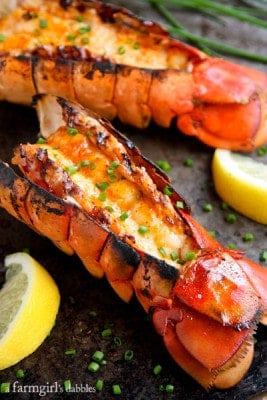 Grilled Sriracha Butter Lobster