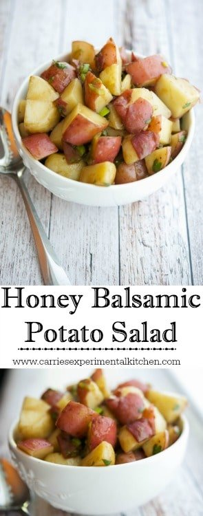 This Honey Balsamic Potato Salad is a delicious and simple alternative to a mayo based potato salad.