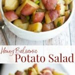 This Honey Balsamic Potato Salad made with red bliss potatoes is a delicious and simple alternative to a mayo based potato salad.