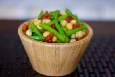 Mediterranean Garbanzo and Green Bean Salad
