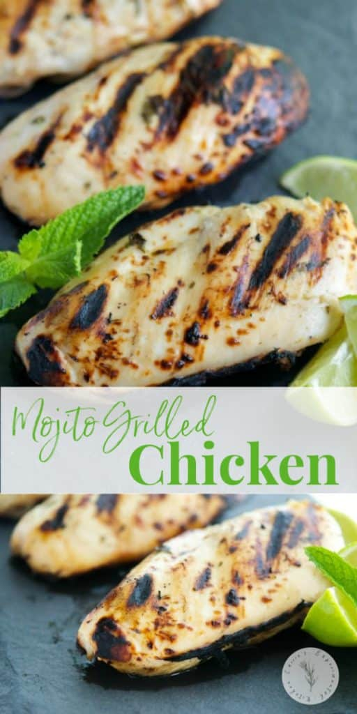 Marinate boneless chicken breasts in one of your favorite summertime cocktail concoctions with this Mojito Grilled Chicken.