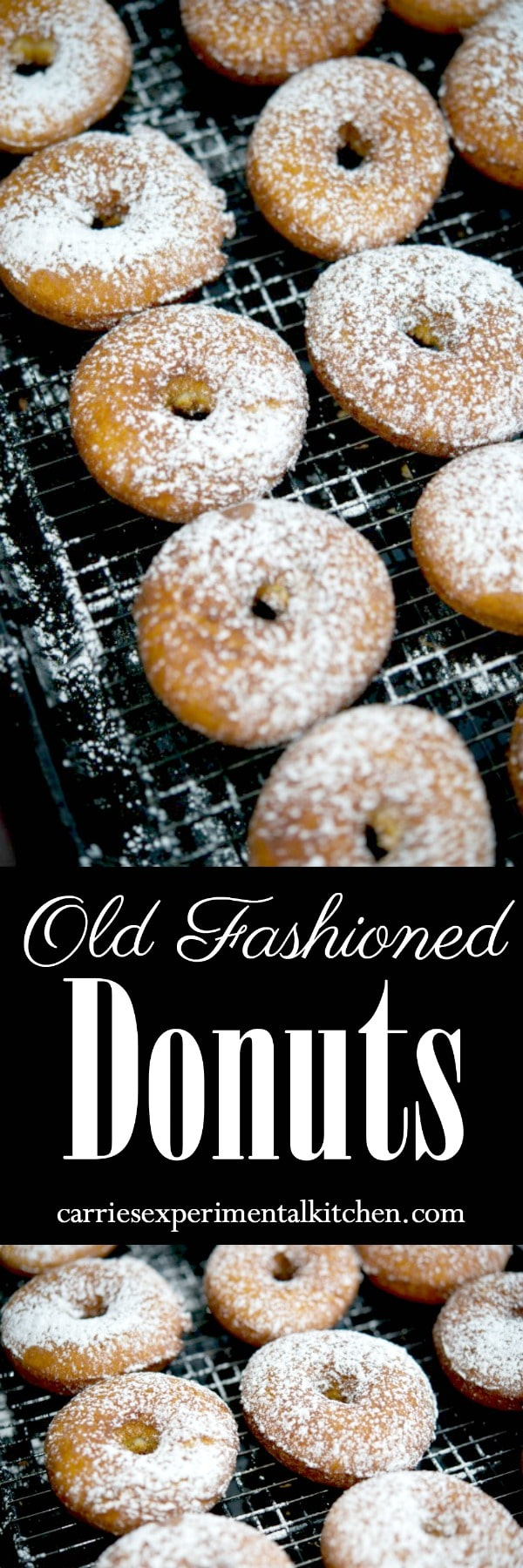 Make your own old fashioned, bakery style donuts at home with readily available pantry ingredients. #donuts #dessert #breakfast