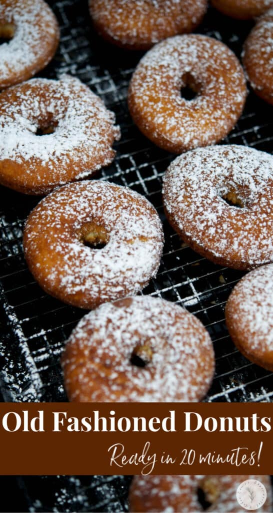 Make your own old fashioned, bakery style donuts at home with basic pantry ingredients. Perfect for breakfast or an afternoon snack!