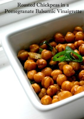Roasted Chickpeas in a Pomegranate Balsamic Vinaigrette