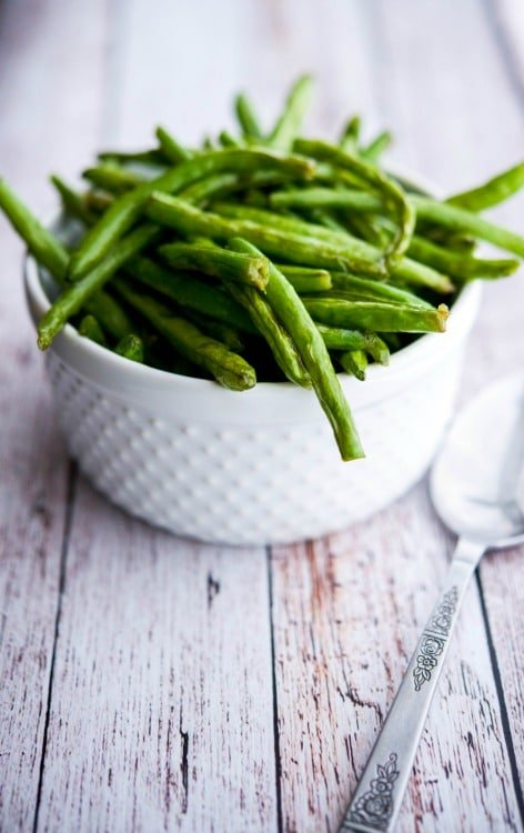 Sea Salt Roasted Green Beans-Vertical