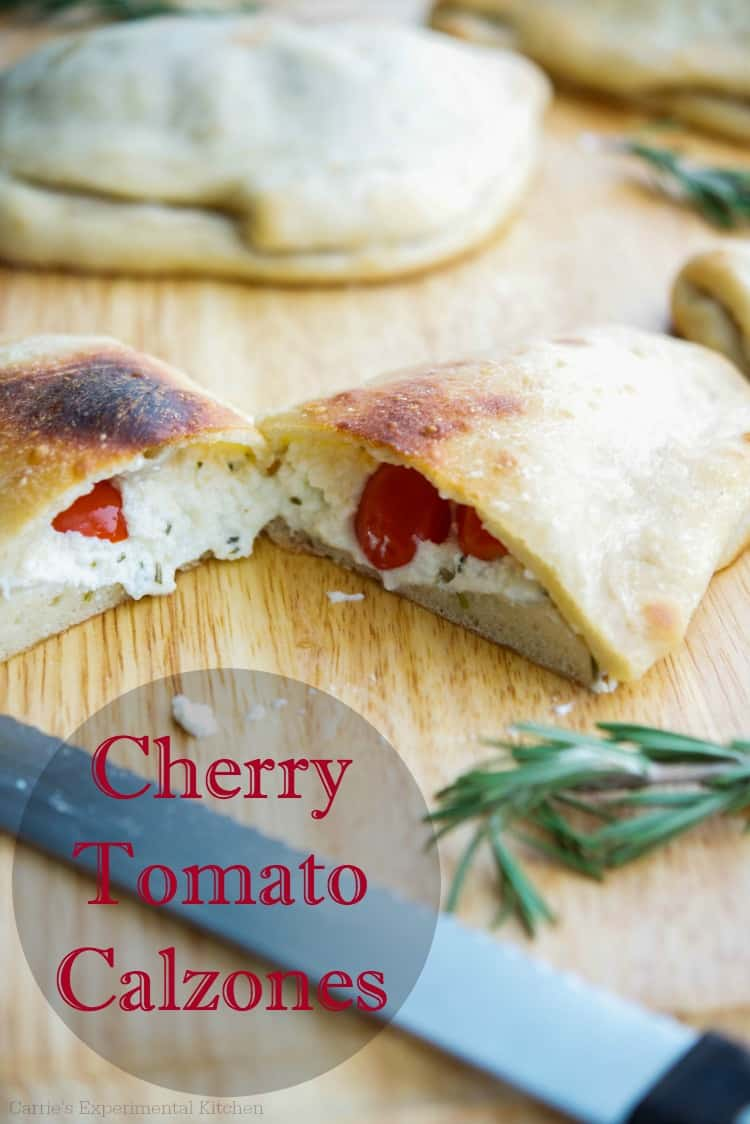 Cherry Tomato Calzones | Carrie's Experimental Kitchen Utilize fresh garden cherry tomatoes to make these homemade calzones the entire family will love.