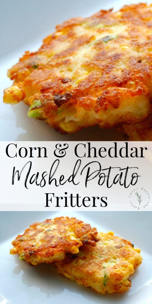Utilize leftover corn and mashed potatoes to create a new tasty side dish with these Corn & Cheddar Mashed Potato Fritters.