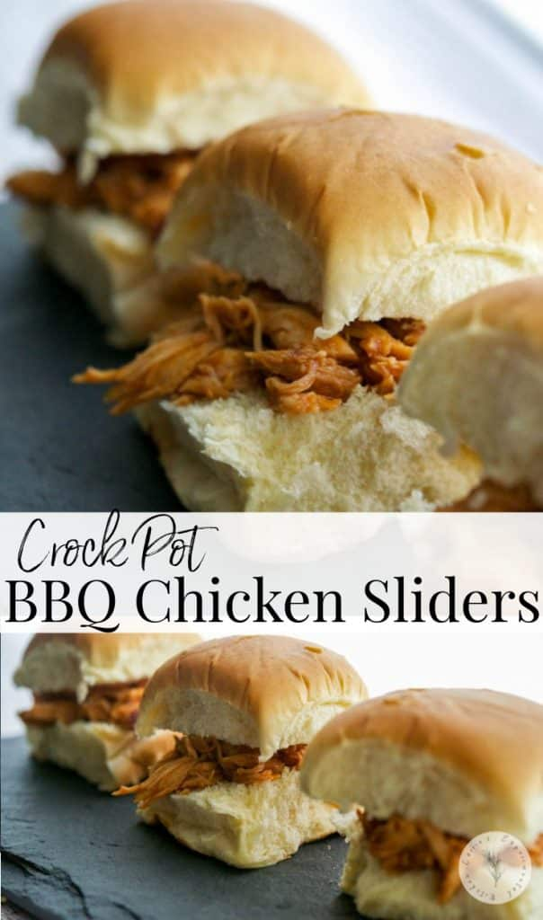 These Crockpot BBQ Chicken Sliders utilize leftover chicken and already prepared bbq sauce to turn it into a tasty new meal.