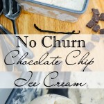 No Churn Chocolate Chip Ice Cream