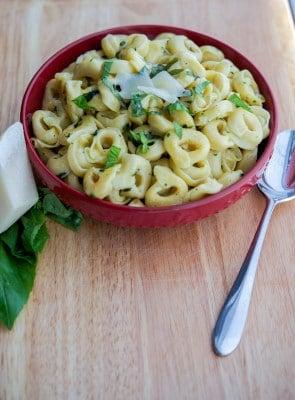 Tortellini with Brown Butter, Garlic & Basil