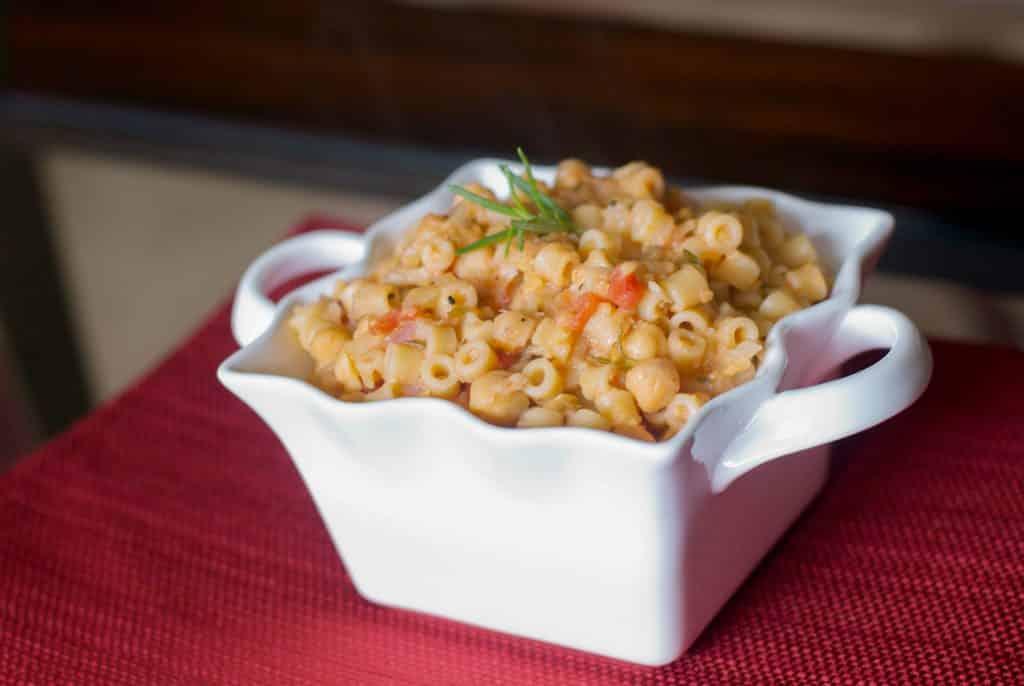 Pasta e Ceci (Ditalini with Chick Peas)