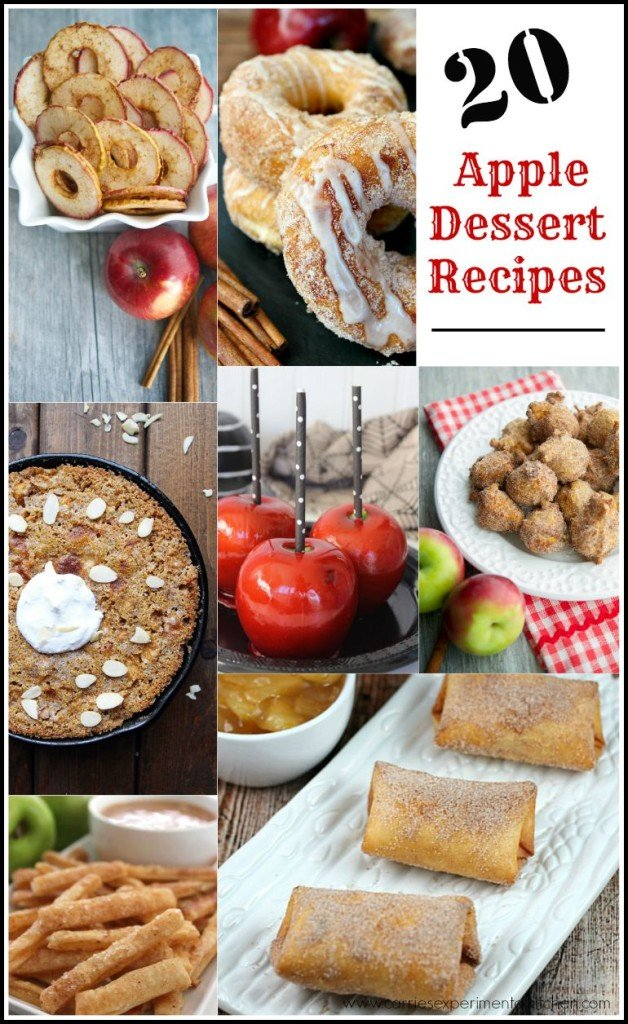 20 Apple Dessert Recipes | CarriesExperimentalKitchen.com Here are 20 Apple Dessert Recipes that will make your mouth water.