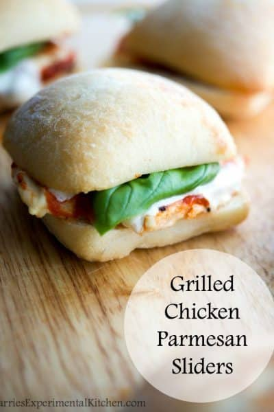 Grilled Chicken Parmesan Sliders | CarriesExperimentalKitchen.com