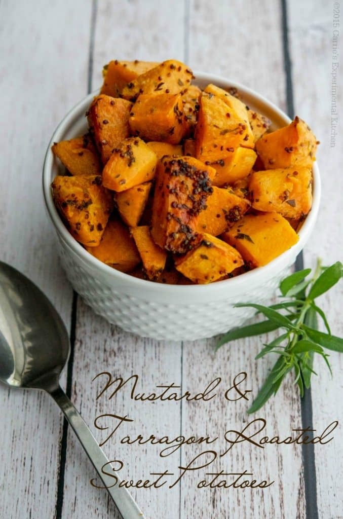 Mustard & Tarragon Roasted Sweet Potatoes | Carrie's Experimental Kitchen