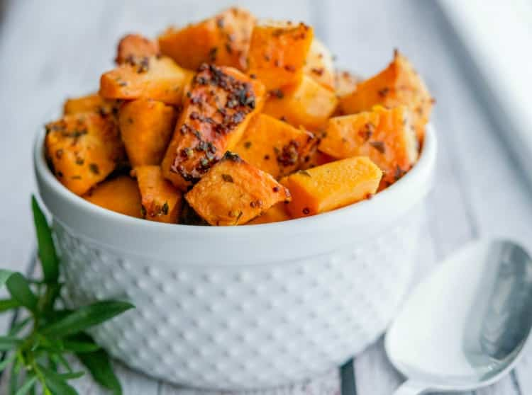 Mustard & Tarragon Roasted Sweet Potatoes-Horizontal