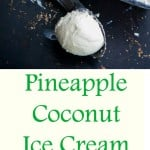 Pineapple Coconut Ice Cream {PF Changs Copycat} | CarriesExperimentalKitchen.com