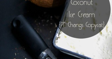 Pineapple Coconut Ice Cream {PF Changs Copycat}