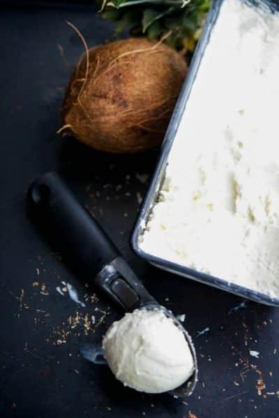 Pineapple.Coconut Ice Cream {PF Changs Copycat}