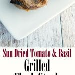 Tender flank steak stuffed with sun dried tomatoes, basil, garlic and Asiago PDO cheese; then grilled to perfection.