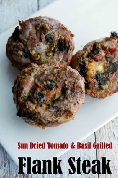 Sun Dried Tomato & Basil Grilled Flank Steak | CarriesExperimentalKitchen.com