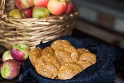 Whole Wheat Apple Walnut Muffin Tops