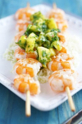 shrimp-with-pineapple-chimichurri