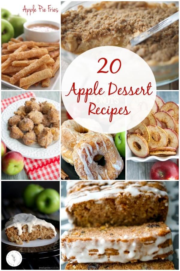 20 Apple Dessert Recipes Collage photo