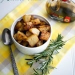 Balsamic Rosemary Roasted Potatoes | CarriesExperimentalKitchen.com