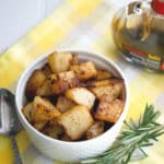 These roasted potatoes mixed with fresh rosemary, garlic, balsamic vinegar and extra virgin olive oil make the perfect side dish to any meal.
