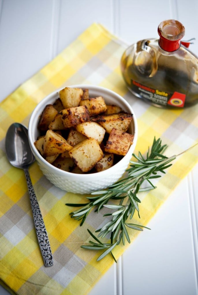 Balsamic.Rosemary Roasted Potatoes