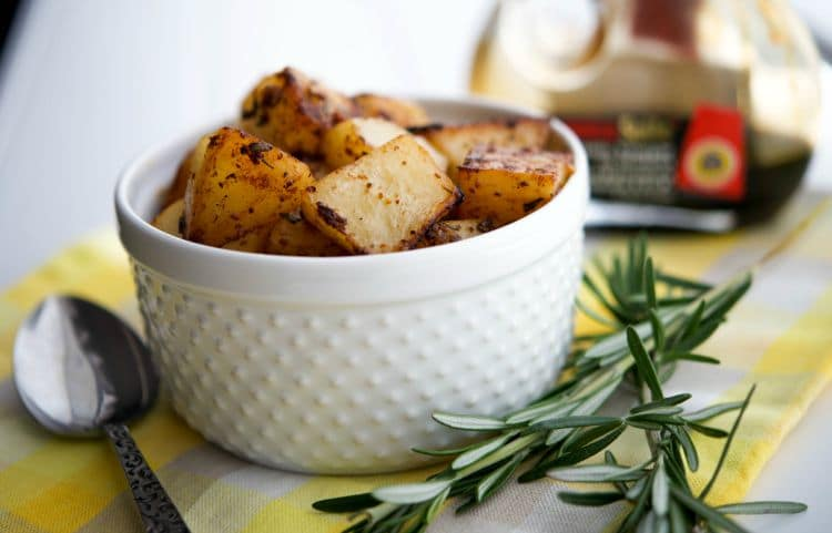 Balsamic.Rosemary Roasted Potatoes Closeup