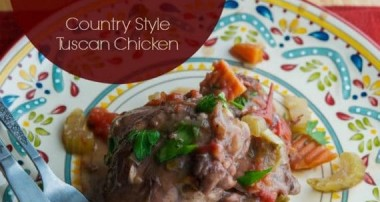 Chicken Contadina {Country Style Tuscan Chicken}