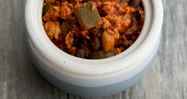 Italian Ground Turkey & Black Bean Stew
