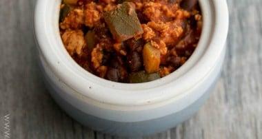 Italian Ground Turkey & Black Bean Stew