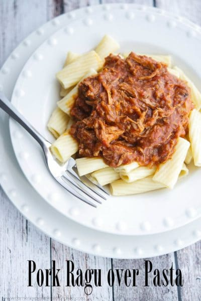 Pork Ragu over Pasta | CarriesExperimentalKitchen.com