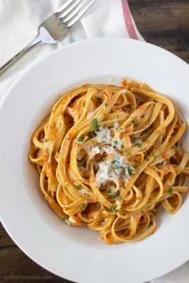 Roasted-Red-Pepper-and-Garlic-Fettucine