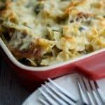 Sausage Spinach & Artichoke Pasta Casserole-horizontal