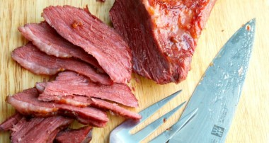 Slow Simmered Hard Cider Corned Beef