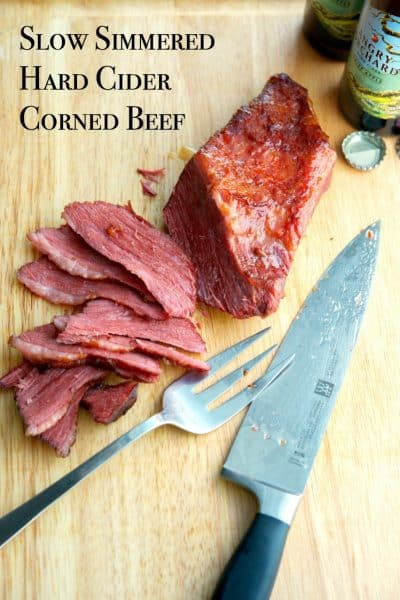 Enjoy the flavors of Fall all year long in this Slow Simmered Hard Cider Corned Beef.