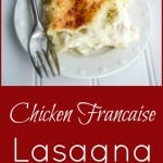 Chicken Francaise Lasagna   CarriesExperimentalKitchen.com Turn a classic restaurant favorite dish into a new favorite casserole with this cheesy, Chicken Francaise Lasagna.