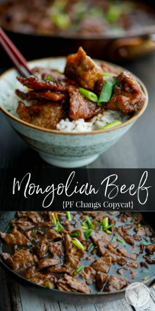 Enjoy PF Changs Mongolian Beef made with flank steak and scallions in the comfort of your own home with a few simple ingredients.