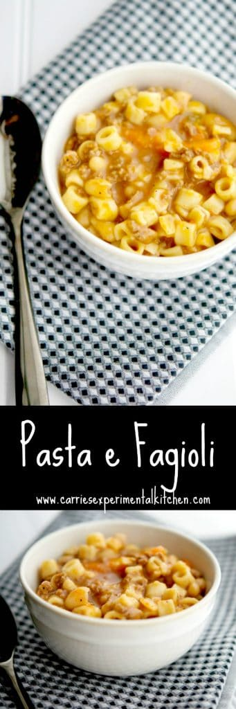 Pasta e Fagioli: This classic pasta and bean Italian soup is loaded with flavorand with the added ground beef, it makes for a satisfying meal.
